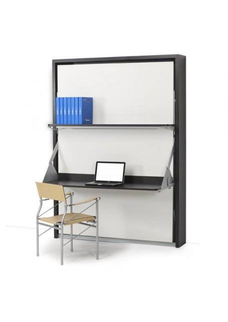 Cama abatible 1 5 con mesa escritorio practiletto - Cama abatible escritorio ...