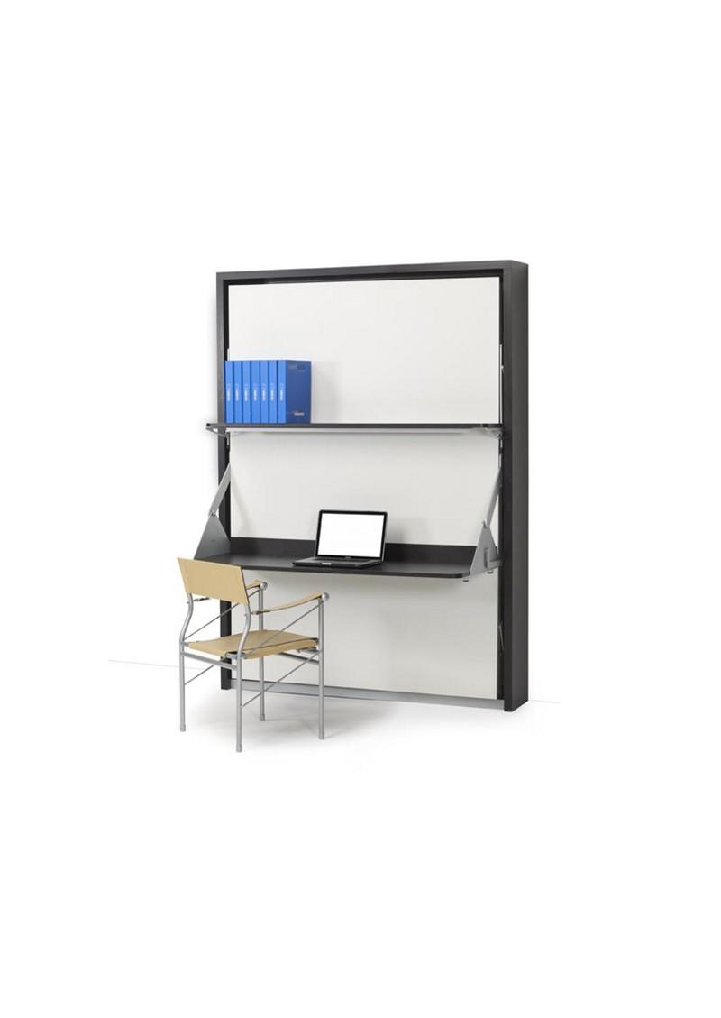 Cama abatible 1 5 con mesa escritorio practiletto - Camas abatibles con mesa ...